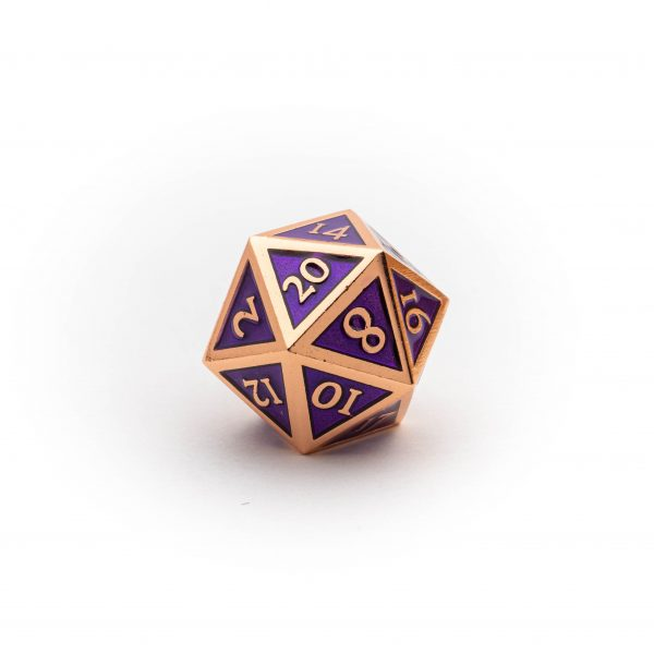 D20 Amethyst Copper