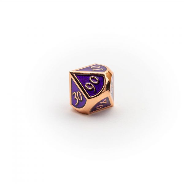 D10 (00-90) Amethyst Copper