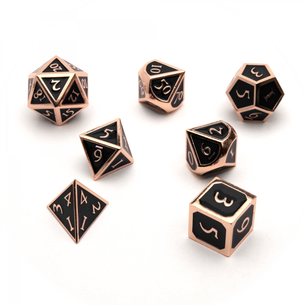 Metal Dice set - Jet Copper