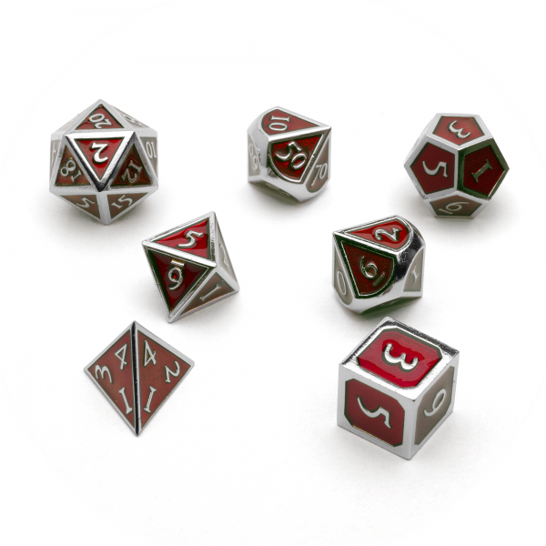 Metal Dice Set - Ruby Steel